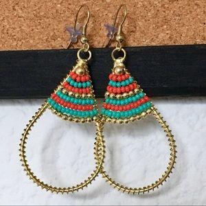 Jewelry - • Beaded Teardrop Earrings •